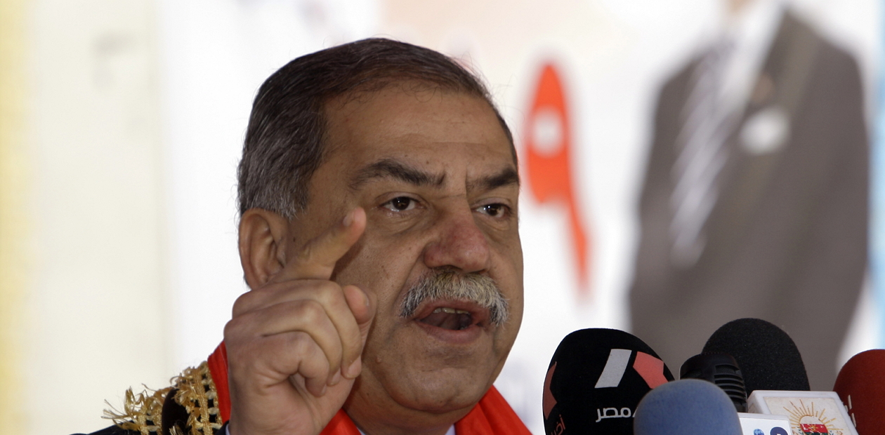 Iraqi secular Sunni politician Mithal al-Alusi speaks during an election campaign rally ahead of March 7 parliamentary elections in Baghdad